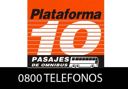 Plataforma 10  telefono atención al cliente