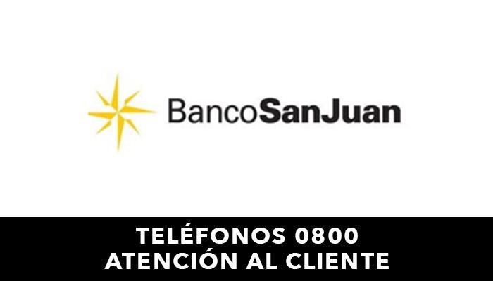 Banco San Juan telefono atención al cliente