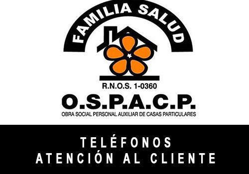 OSPACP telefono atención al cliente