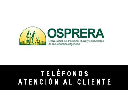 OSPRERA telefono atención al cliente