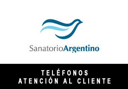 Sanatorio Argentino telefono atención al cliente