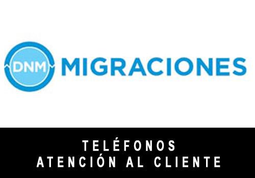 Migraciones telefono atención al cliente